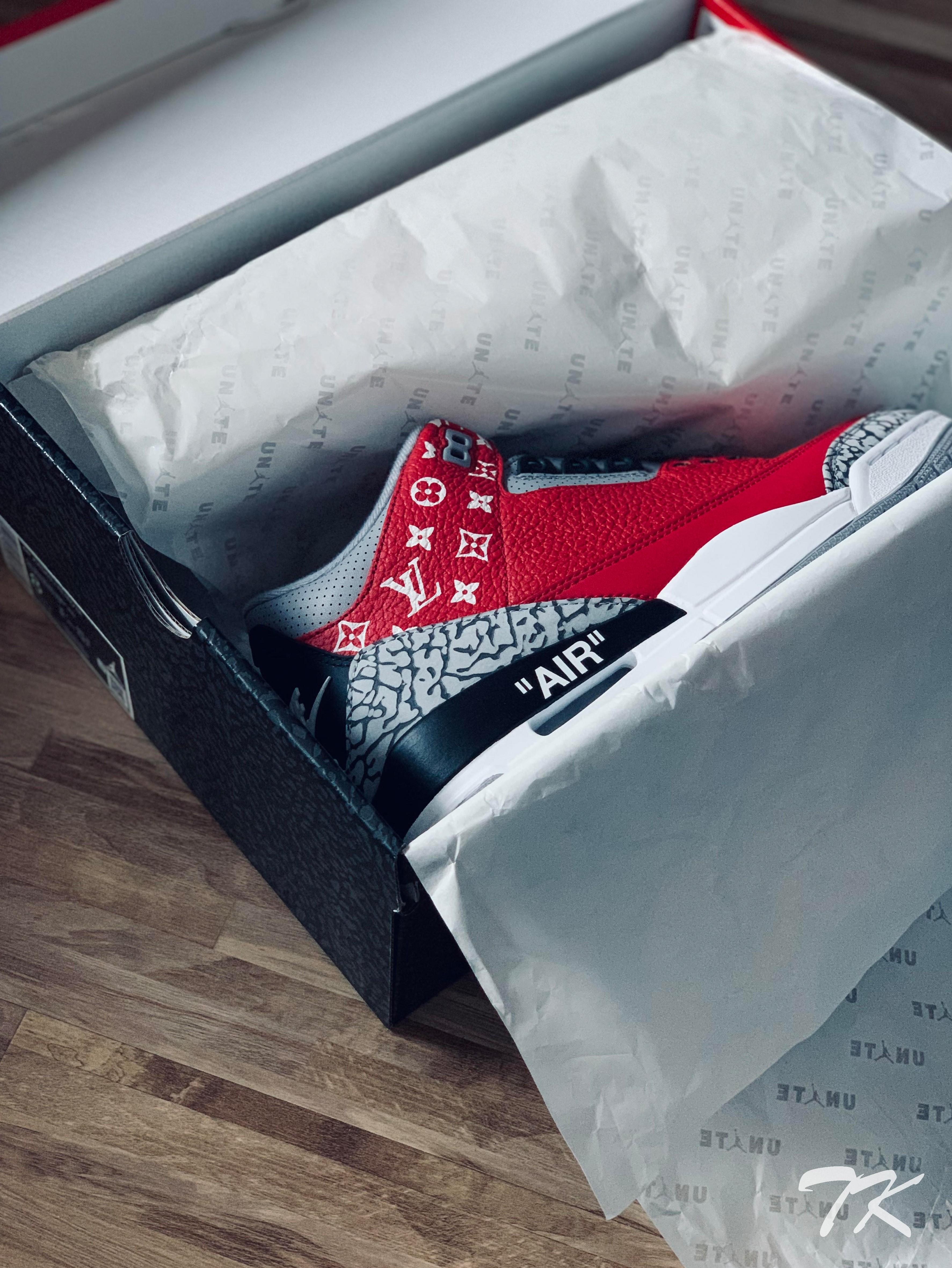 "Nike Air Jordan 3 ""SUPREME x LV x OW"""