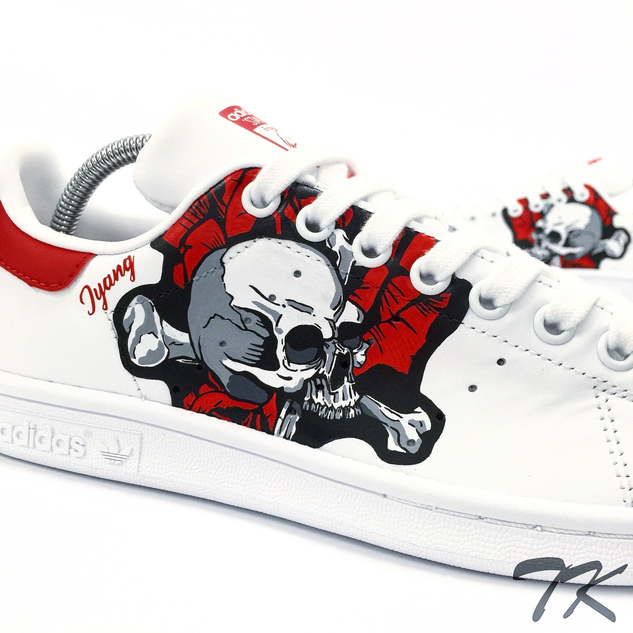 "Adidas Stan Smith ""SKULL & ROSES"""