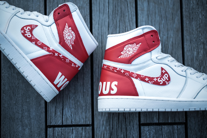"""Nike Air Jordan 1 """"SUPREME x LV"""""""