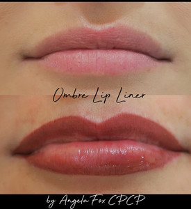 Ombre tattoo lip liner houston texas