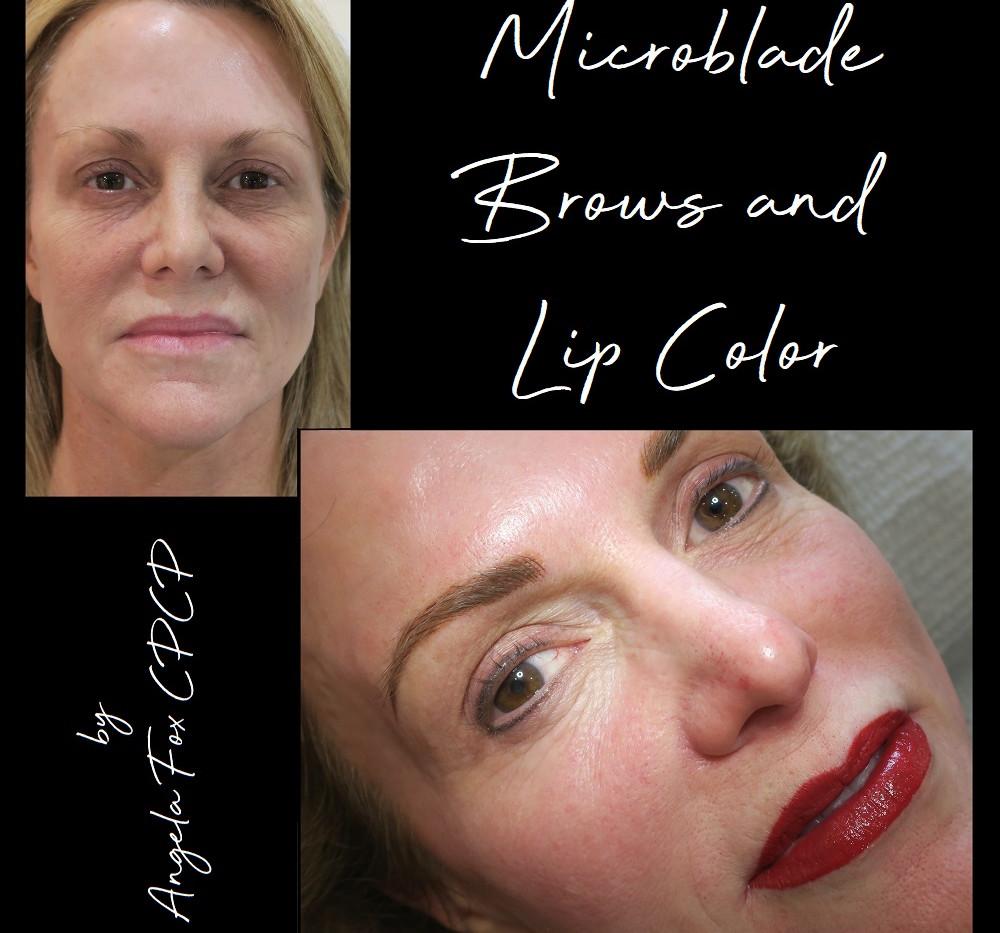 brow microblading and lipstick tatooing.