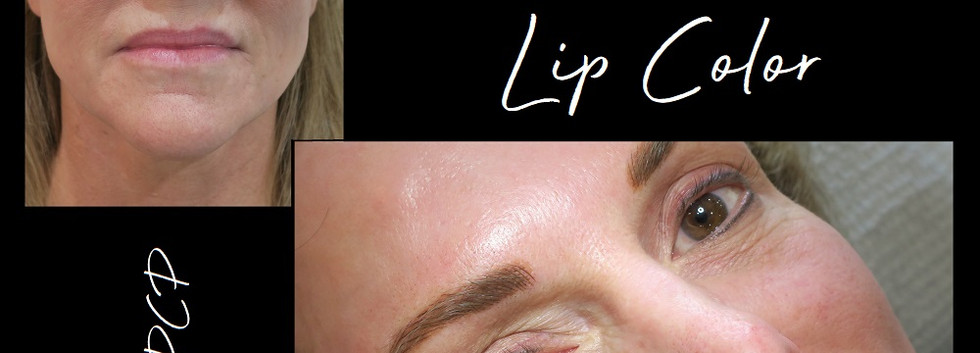 brow microblading and lipstick tatooing.