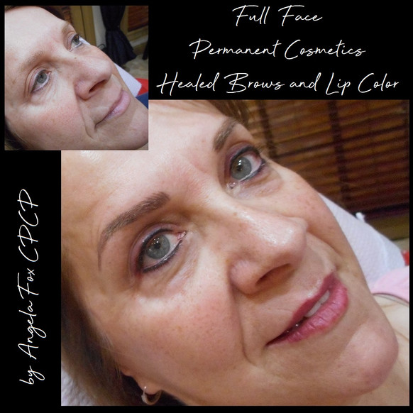 hd brows and full face permanent makeup.