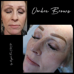 Correcting old microblading with ombre b