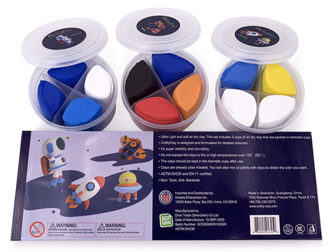 "SPACE""CRAFT"" Air Dry Modeling Clays by CRAFTYCLAY"