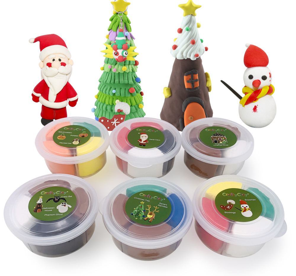 The CHRISTMAS EDITION Air Dry Modeling Clays by CRAFTYCLAY