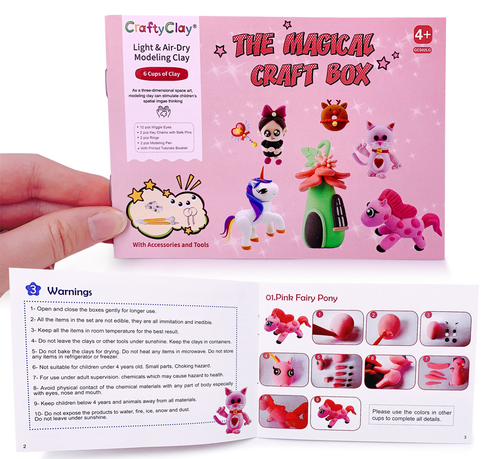 The MAGIC EDITION Air Dry Modeling Clays by CRAFTYCLAY