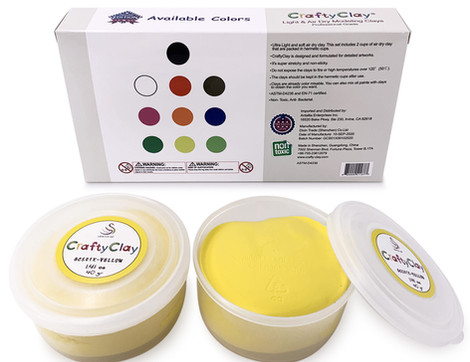 CRAFTYCLAY REFILLS YELLOW