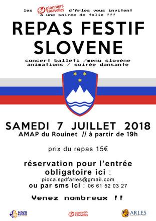 Repas Slovène - 7 juillet
