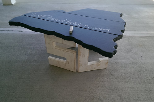 State Table - SC - White legs, Chalkboard top