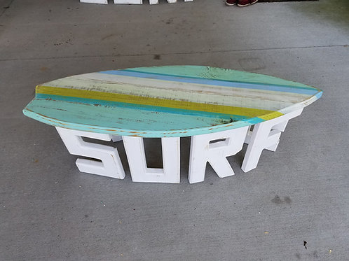 Surfboard Table - 4 ft - White