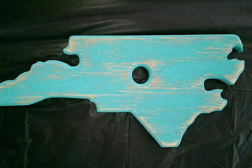 Wine Glass Holder - NC - Teal