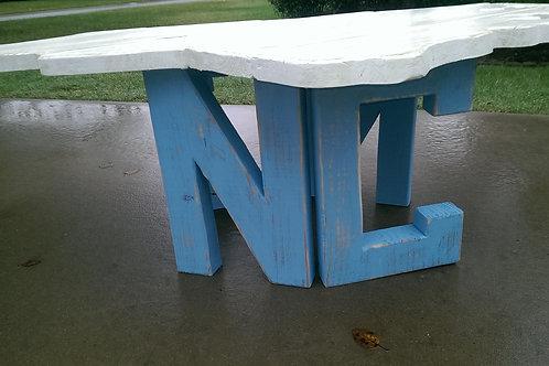 State Table - NC - Carolina Blue legs, White top