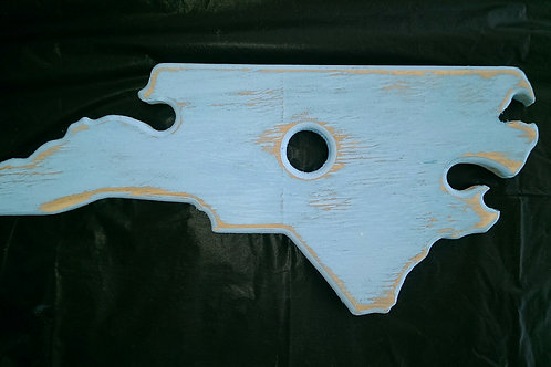 Wine Glass Holder - NC - Carolina Blue