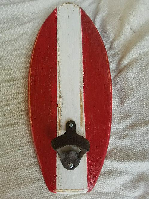 Bottle Opener - Surfboard - Lobster with White Stripe