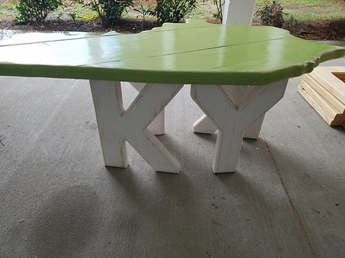 State Table - KY - White legs with Lime top