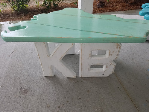 State Table - NC - KB - White legs with Sea Foam top