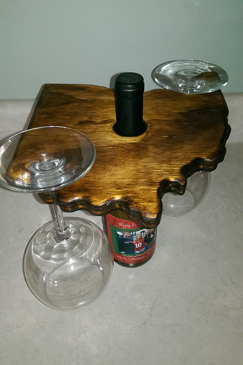 Wine Glass Holder - OH - Stain - Dark