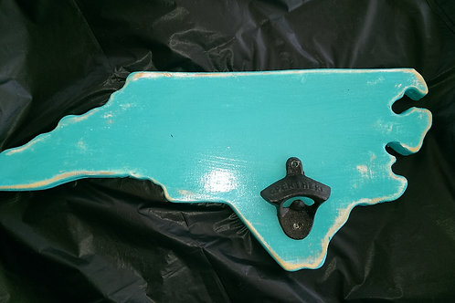 Bottle Opener - State - NC - Teal