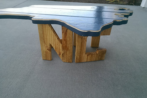 State Table - NC - Natural legs, Nautical Blue top