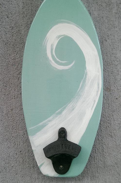 Bottle Opener - Surfboard - Sea Foam