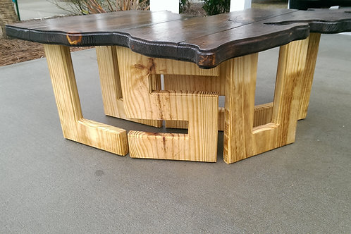 State Table - LA - LSU -Natural legs, Dark Stained top