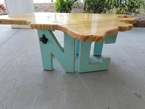 State Table - NC - Sea Foam legs,  Natural top