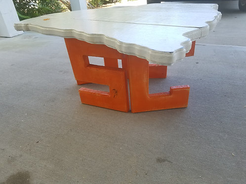 State Table - SC - Orange legs with White top and Clemson logo
