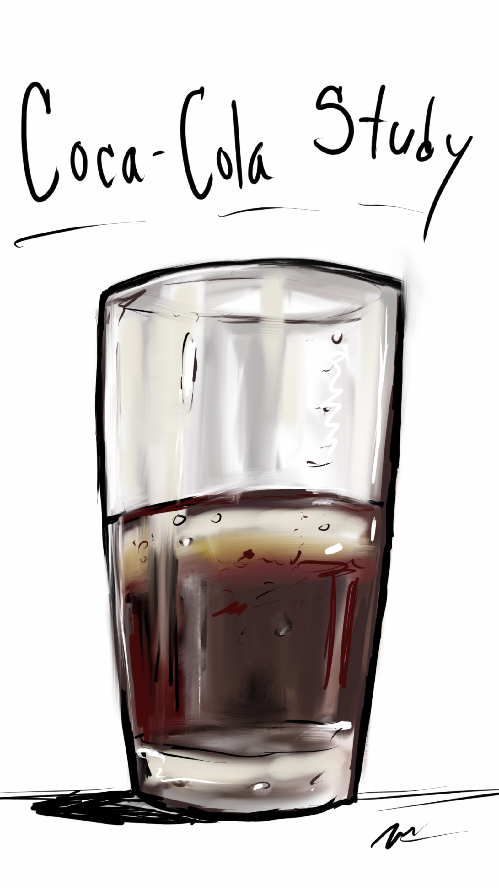 Glass of Coca-Cola