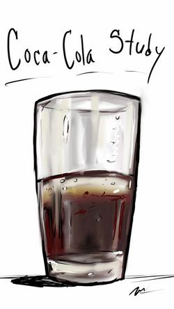 Glass of Coca-Cola