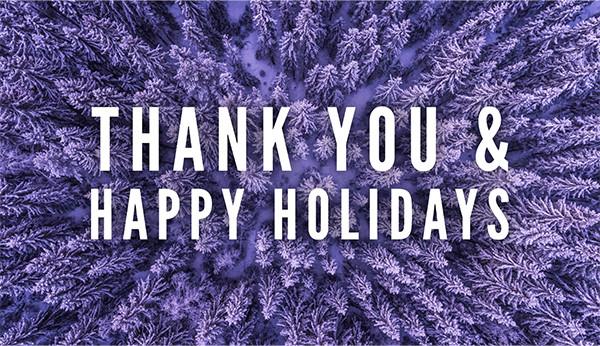 Thank You & Happy Holidays