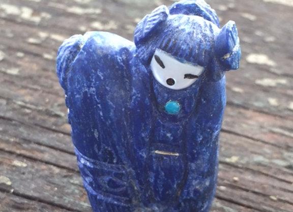 Triple-Sided Lapis Lazuli Corn Maiden
