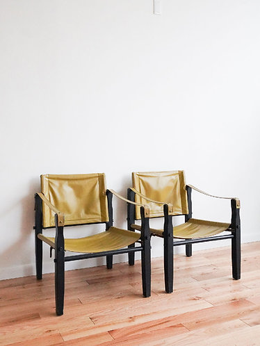 1960s Gold Medal Furniture Co. Safari Chairs