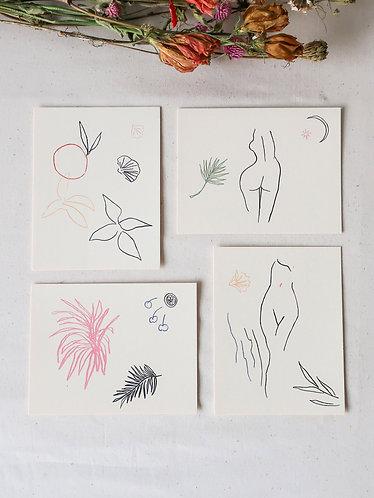 Fauna and Flora Notecard Set
