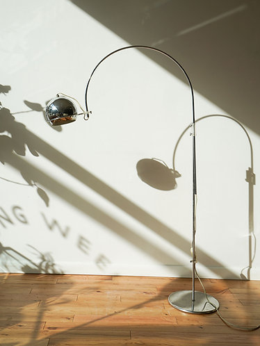 1960s Gepo Amsterdam Arc Floor Lamp