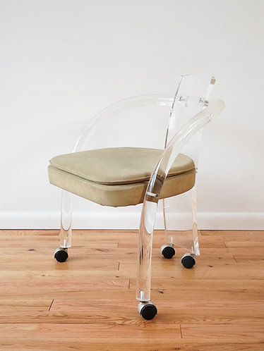 Wycombe-Meyers Lucite Rolling Chair