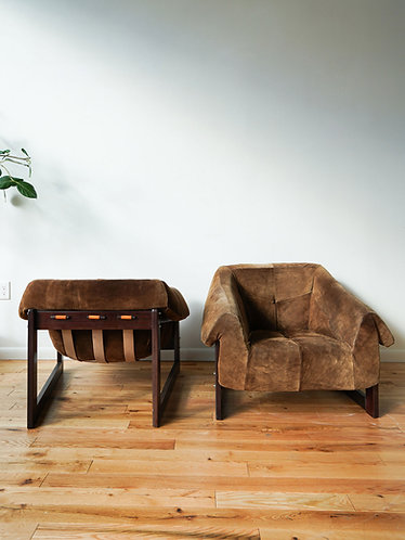 Percival Lafer Suede Lounge Chair
