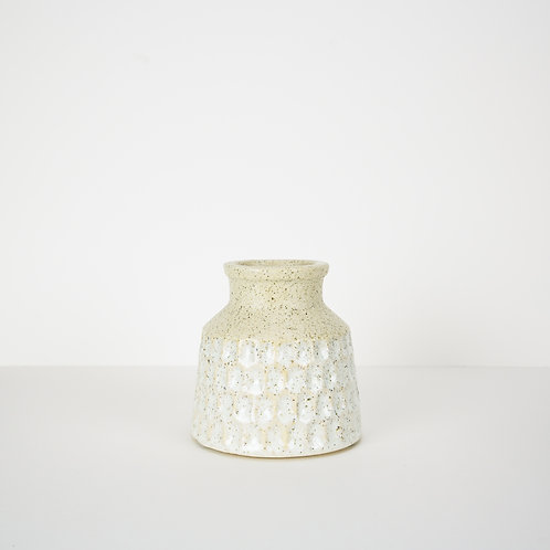 Speckled Bud Vase with Mint Glaze