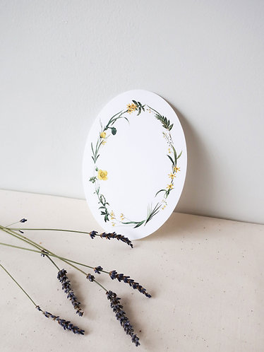 Oval Floral Notecard