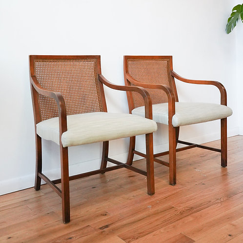 Cane Side Chairs with Wavy Back