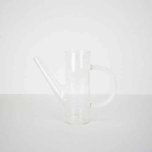 Small Glass Watering Can with Milky Handle