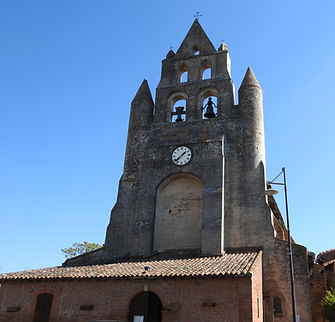 Puydaniel Eglise Saint Blaise Clocher (2