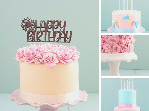 Happy Birthday Card Cake Topper FONT 5a