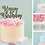 Thumbnail: Happy Birthday Card Cake Topper FONT 7