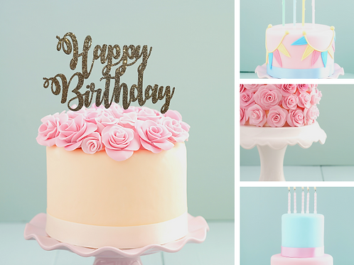 Happy Birthday Card Cake Topper FONT 7