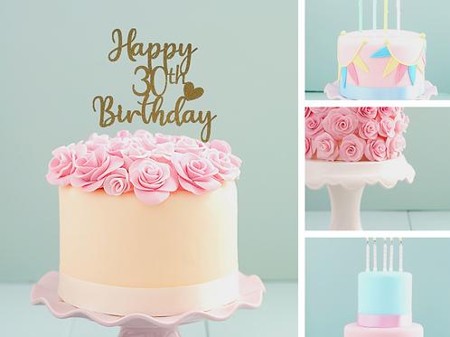 Happy Birthday Age Card Topper