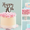 Thumbnail: Happy Birthday AGE Card Cake Topper FONT 2