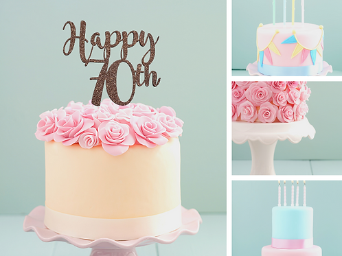 Happy Birthday AGE Card Cake Topper FONT 2