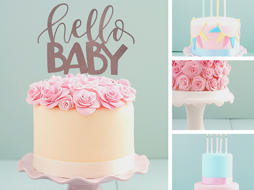 'Hello Baby' Card Cake Topper SALE