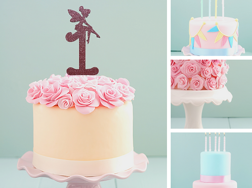 Fairy 'NUMBER' Card Cake Topper
